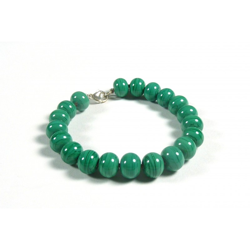 Bracelet parade vert émeraude opaque