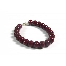 Bracelet parade rouge cerise opaque