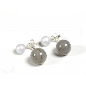 BO Dessus-dessous, gris perle et foncé