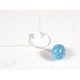Collier O'perle, bleu turquoise clair