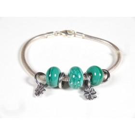 Bracelet Evoluto, vert émeraude
