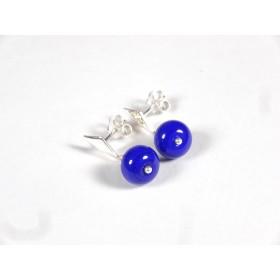 Clous pendants bleu roi