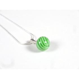 Collier Elégante vert nil et transparent