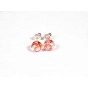 Petits clous incolore transparent fil orange