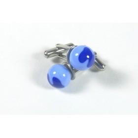 Boutons de manchette décorés bleu