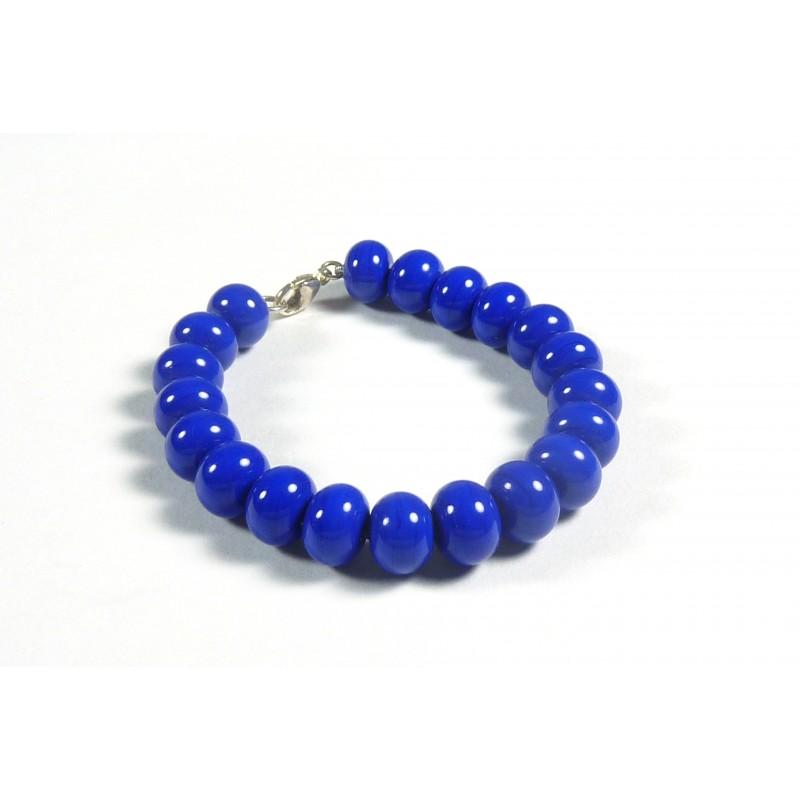 Bracelet parade bleu roi opaque