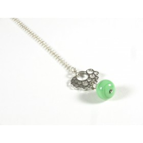 Collier Médaillon, vert nil
