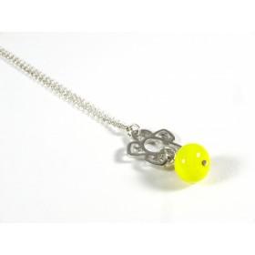 Collier Médaillon, jaune citron
