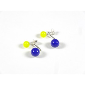 BO Dessus-dessous, bleu roi et jaune citron