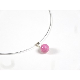 Collier Perline, rose fuchsia