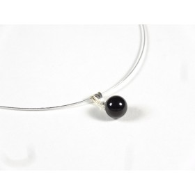 Collier Perline, noir