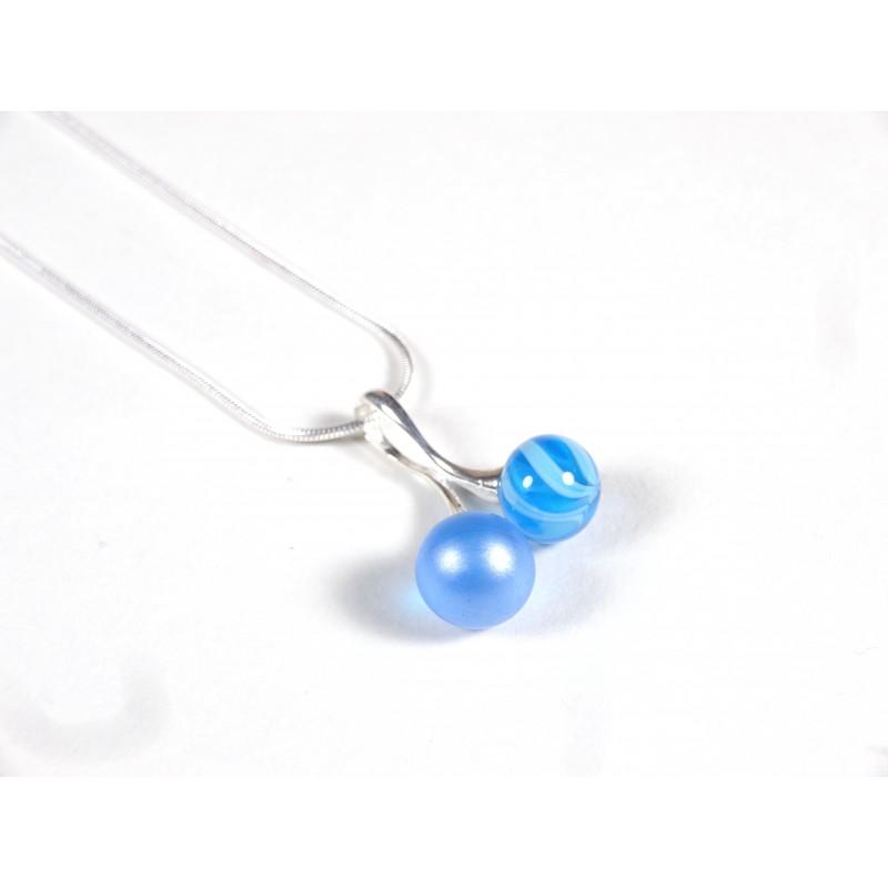 Collier Cherry bleu turquoise