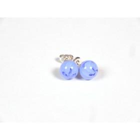 Petits clous bleu hortensia et incolore
