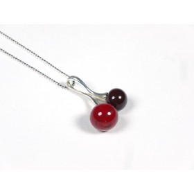 Collier Cherry rouge