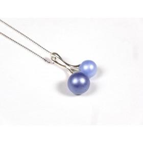 Collier Cherry bleu givré