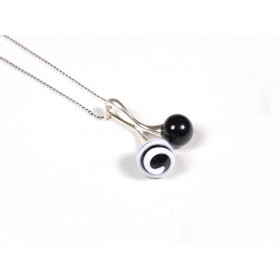 Collier Cherry noir blanc