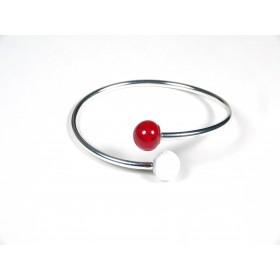 Bracelet Toi et Moi, rouge et blanc