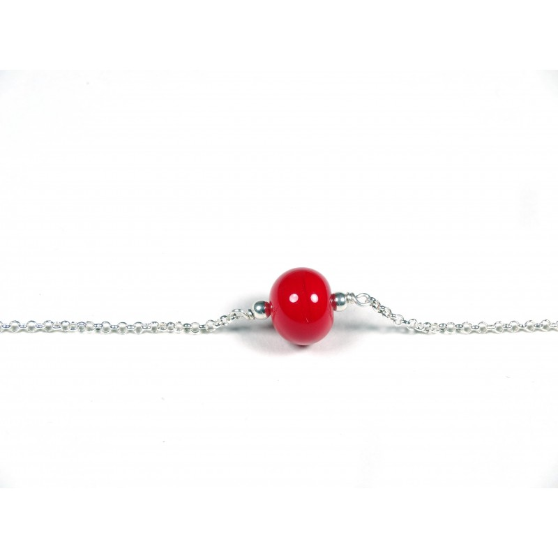 Bracelet Perle fine, rouge