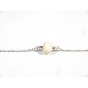 Bracelet Perle fine, beige ivoire
