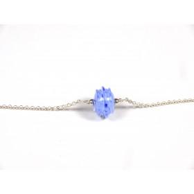 Bracelet Perle fine, bleu hortensia et incolore