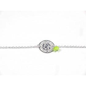 Bracelet Arabesques, vert anis