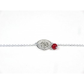 Bracelet Arabesques, rouge