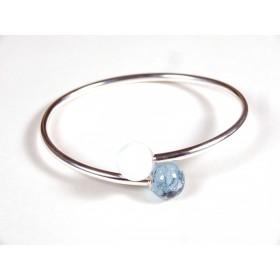Bracelet Toi et Moi bleu oxydé et blanc