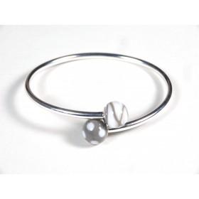 Bracelet Toi et Moi gris, blanc