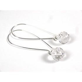 Boucles d'oreilles Effilées, transparent bulles