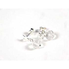 Clous pendants étoilés, incolore fil blanc