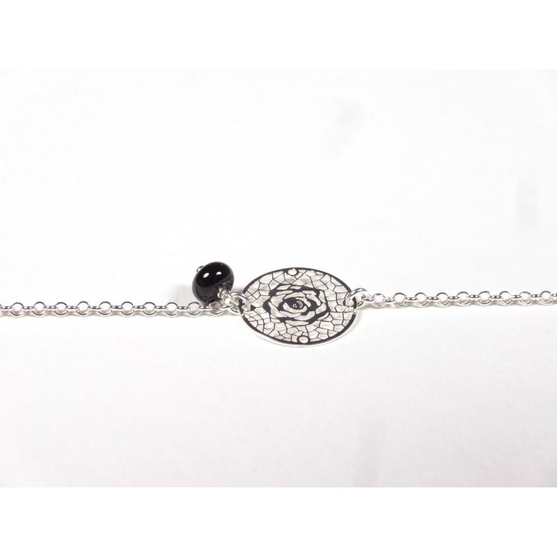 Bracelet Arabesques, noir