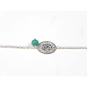 Bracelet Arabesques, vert émeraude