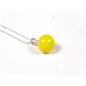 Collier Elégante jaune moutarde
