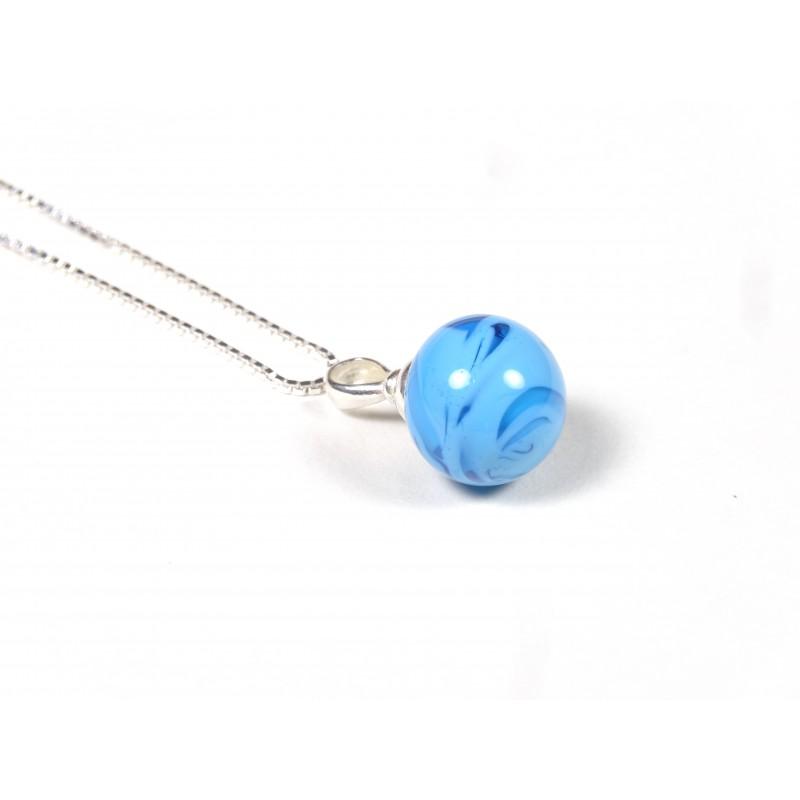Collier Elégante bleu turquoise