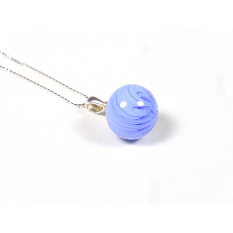 Collier Elégante bleu hortensia entremêlé