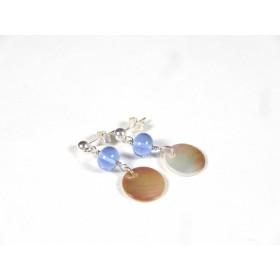 Boucles Nacrinettes, bleu doux transparent