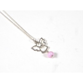 Collier enfant Angelot, rose pâle