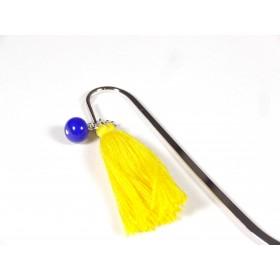 Marque page jaune et bleu roi