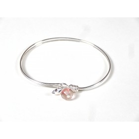 Bracelet Brelok, rose transparent
