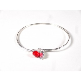 Bracelet Brelok, rouge transparent