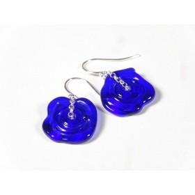 Boucles d'oreilles Filage, bleu cobalt