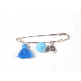 Broche, bleu turquoise