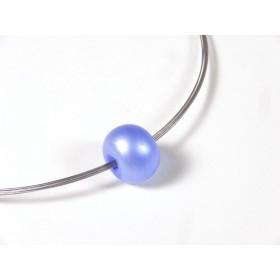 Collier Infinity bleu doux givré