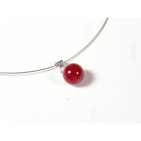 Collier Perline, rouge cerise
