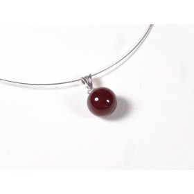 Collier Perline, rouge cerise uni