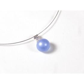 Collier Perline, bleu doux givré