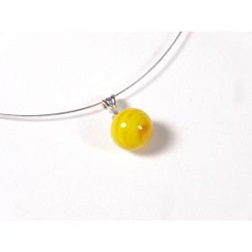 Collier Perline, jaune moutarde