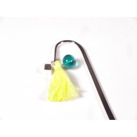 Marque page vert marin et jaune