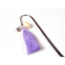 Marque page beige et violet