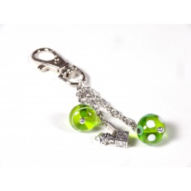 Bidouille, vert transparent et blanc